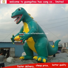 Guangzhou customized Green dinosaur inflatable cartoonn, cartoon body inflation, inflatable advertising cartoon