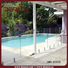 concrete glass simple fence designs for swimming pool