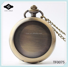 TF0075 New Fashion Romantic Couples put Photo on watches 2015 empty pocket watch