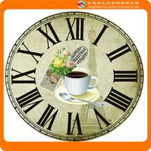 2015 good quality custom cheap plastic wall clocks decorative pattern