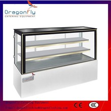 Air Cooled Commercial Rear Glass Doors Refrigerated Bakery Display