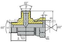 Bsp Male/ Bsp Female Run Tee Hydraulic Tube Fitting (CB)