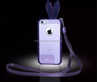 HOT New Crystal Soft Phone Case For iphone 5 5g 5s Mobile Phone Bag Case For iphone5 Clear Rabbit Case