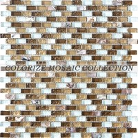 Mix color mother of pearl shell and glass mosaic tile for wall tile (CS004)
