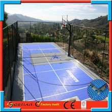standard size court cover basket ball professional