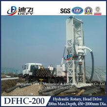 bore hole drilling rig / water well drilling machinery / DFHC-200 truck mounted driller