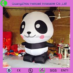 2015 Guangzhou cute giant inflatable panda for sale