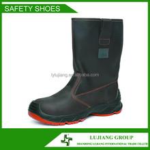 moda nero cavaliere e morbida suola stivali di sicurezza