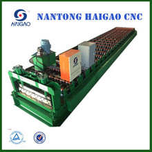 Single Layer CNC Color Steel roll forming machine / roof tile steel forming low cost production line