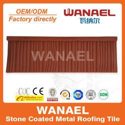 Wanael popular stone coated steel roof tile/low cost roof material