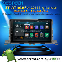 WiFI 3G Phone APPs cars stereo for Toyota highlander 2015 Android 4.4.4 up to 5.1 1.6GHZ MCU 4 core