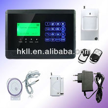 NEW 2012 Wireless GSM alarm system with LCD display and Touch keypad