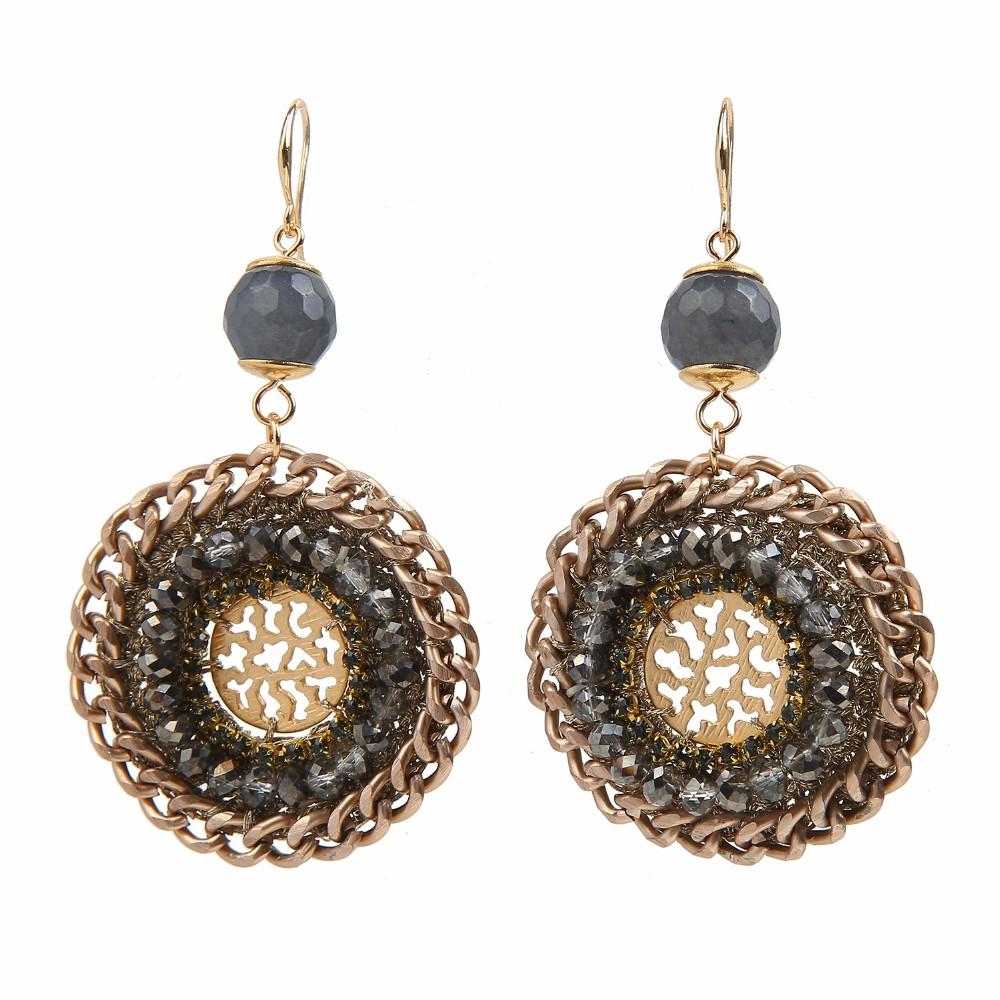 Crochet Hook Earrings: Earring Crystal Crochet Hook In Yiwu Wholesale Fashion