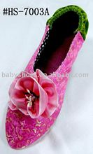 fashion handmade brocade women's indoor slippers