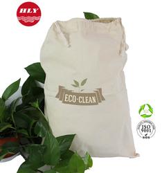 Supermarket 180G Natural Cotton Drawstring Canvas Laundry Bags