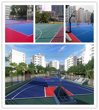 SUGE High Quality Outdoor Interlocking Basketball Flooring/baskerball floor Outdoor/PP interlocking basketball flooring