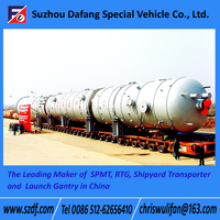 SPMT Self-propelled modular transporter, semi trailer