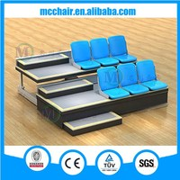 2015 new model fixed seat retractable grandstand seating