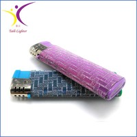 Good quality colored customized paper cricket lighter