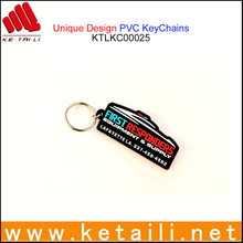 China Promotional PVC Rubber KeyChain Factory