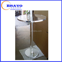 French style Round Acrylic Organic glass Console Table