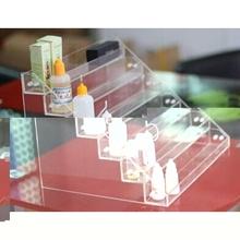 Moge Detachable Orange Acrylic E-juice Display Stand Vapor Shop Cigarette E Liquid Stand