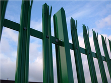 20 years factory supply pvc coated palisade fence palisade fence price galvanized palisade fence