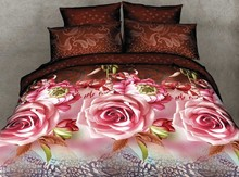 Popualr design hot sale king size 3d bed sheet made in China