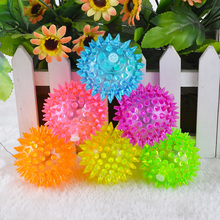Plastic dog toy ball with flash led light,wholesale dog toy ball from China