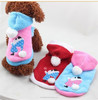 New Pet Dog Printed Fleece Coat Clothes Warm Hoodie Sweater Costumes