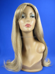 Sexy Ladies'S Hair Medium Long Fashion Style Wavy Curly blonde wig with highlights