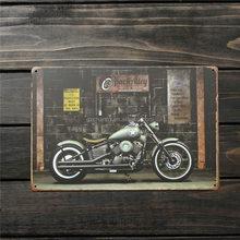 vicolo 30x20cm vintage classico metallo segno bar muro pub decorazione stagno retrò poster motociclo cool placca