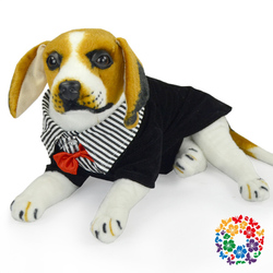 handsome Pet Dog clothing Formal black cotton shirt with necktie fashion pet clothes for dog