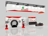 latest fashion exhibition stall stands display for tyre trade show
