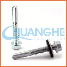 China supplier hex head type 17 self drilling screw
