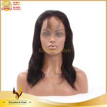 Direct Hair Factory High Ponytail Human Hair Wig With Natural Hairline Straight Glueless Silk Top Full Lace Wig