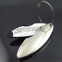 blank metal alloy luggage tags for custom logo (SW)