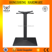 Office table legs HS-A055 Square tube and angular surface base with rectangular top Cast Iron Table Base table legs