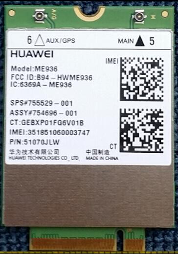 Hot Penta-band huawei me936 mini pci express 4g lte module band 20