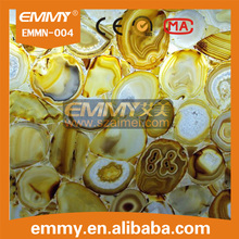 2015 nature yellow gold agete mosaic tile gemstone tile for sale