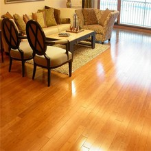 Quality bamboo flooring CE certified pure green horizontal carbonized solid bamboo flooring
