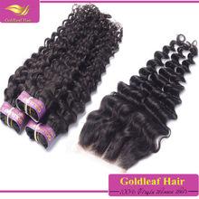 2015 new arrival Brazilian lace closure unprocessed wholesale virgin Brazilian hair with closure