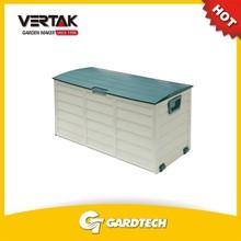 Plastic garden tool storage box with lid mould, outdoor garden storage box, plastic outdoor storage bin