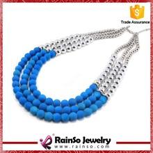 Blue Beads Girls Necklace Jewele