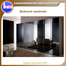 High gloss faced Wardrobes with sliding door panel