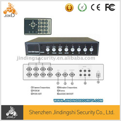 (JD-QD828) 4/ 8/ 16Ch High Speed Color Quad with Audio, CCTV video quad processor