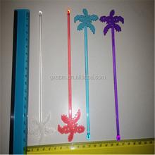 Wholesale fashion long plastic swizzle stick