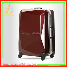 "XC-35 Diamond Surface wheeled 20'' Luggage /best price factory luggage/20"" Diamond Cutting Surface Spinner Carry luggage"