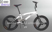 20 inch 2013 hot sale newest style favourite popular white freestyle BMX kids bike