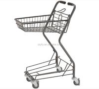 Customized shopping cart luggage cart with aluminium frame.